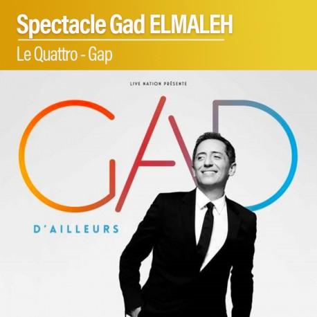 Gad ELMALEH - Le Quattro - Gap - 09 Novembre 2021
